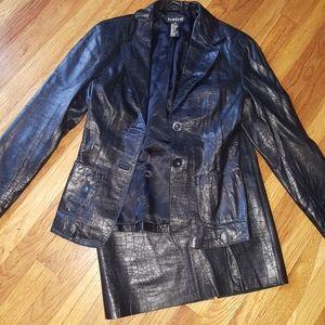 Vintage Bebe leather skirt set